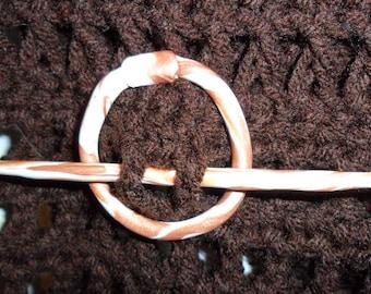 Polymer Clay Shawl Pin and Circle Fastener
