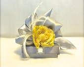 Yellow and Gray Favor Box, Jewlery Box, Wedding, Gift Box, Favors, Jewelry, Mothers Day, Christmas, Bridesmaids, Handmade, Decorative Boxes