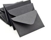 Black Tiny Envelope // Set of 10 // Love Notes // Embellishment // Decoration // Scrapbook // Journals // Ephemera // Blank Cards