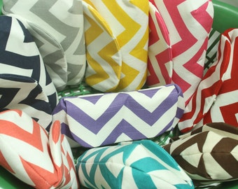 Bridesmaid Clutches, Set of 9, Choose your chevron color & lining, Wedding Clutches, Bridal Shower, Wedding Shower