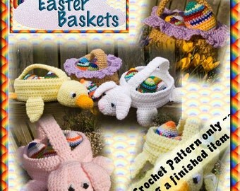 PDF Crochet Pattern Easter Baskets