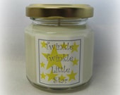 RESERVED:  2 Twinkle Twinkle Little Star Four Ounce Baby Shower Favors, Pink and Black design