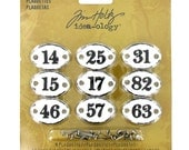 Tim Holtz Idea-ology , Plaquettes  9 Plaquettes along with 18 fasteners