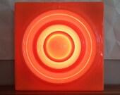 RING LAMP by Verner Panton, 1969, orange - Vitra - Reserved for Adam