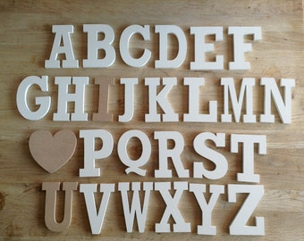 Full Wooden Alphabet - I LOVE YOU - Hand Painted Wooden Letters Set - 26 letters - 12cm high - Rockwell S Font