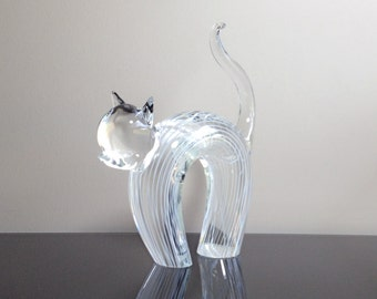 Licio Zanetti Italy Murano Art Modernist Cat Sculpture