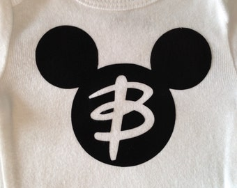 Personalized Mickey Mouse Baby Boy Onesie Bodysuit Short sleeve