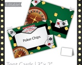 Casino Party Tent Cards (editable) - Lucky Draw ~ Casino Party Sign, Casino Night Tent Cards, Casino Tent Cards, Casino Event Tent Cards