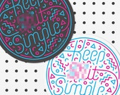 Keep S**t Simple - Card Coasters by Tim Easley