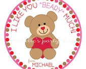 NEW -PRINTABLE Teddy Bear Favor Tags, I like you BEARY much