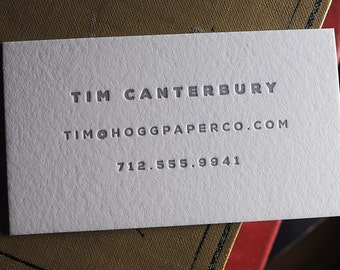 The Minimalist – Custom Letterpress Printed Calling Cards 100ct