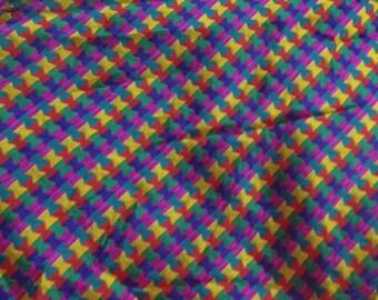 One yard  of Indian silk brocade fabric in multi colors