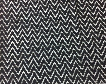 1 Meter indian  Cotton  fabric in white and black