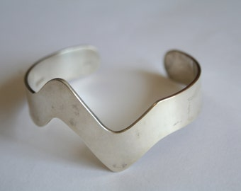 Sterling silver Bracelet Modern - Abstract - Minimalistic