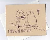 Romantic Finches Card (dark humor)