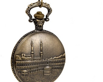 1pcs Large  Palace fort pagoda Watch Charms Pendant with chain /pocket watch/Bridesmaid , Christmas gifts, friends, children's gifts