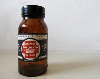 Vintage Italian Pharmacy Bottle