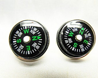 Men cufflinks ,  Nautical Compass Cufflinks Steampunk Gothic Mens Accessory Wedding Groomsmen
