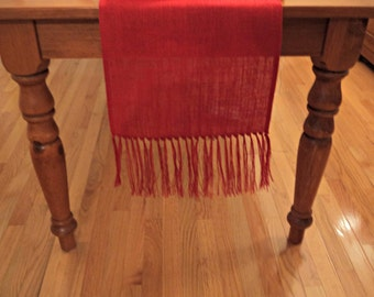 Pick Your Color Burlap Table Runner Country Chic Table Runner Custom Size Available Burlap Runner with Fringe