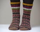 Hand knitted Wool socks. Size - small / medium US W 7, EU 37.5