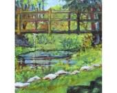Waterloo Bridge at Waterloo Village in Stanhope,NJ an original 9 by 12 oil painting