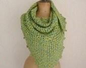 Triangle scarf crochet shawl granny square shawl
