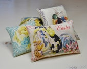 Easter Decorative Pillows - Retro Bowl Fillers - Easter Bunny Tucks - Chicks - Easter Home Decor