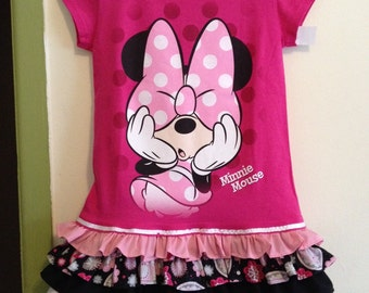 Minnie upcycled tshirt dress