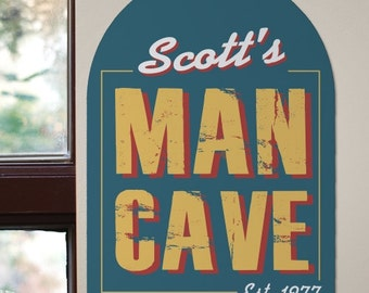 Custom Rustic Man Cave Sign, printed sign, beer, Father's Day, gifts for dad, beer lover, man cave, father's day gift -gfyU816480