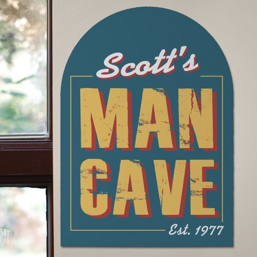 Man Cave Signs Personalized Uk : Custom rustic man cave sign printed beer father s