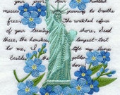 Statue of Liberty United States  Embroidered Flour Sack Hand Towel