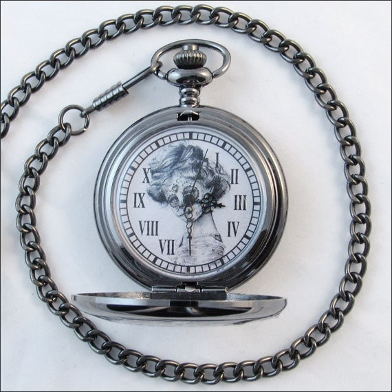 Sugar Skull Pocket Watch