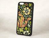 Floral iPhone 5 Case, Vintage William Morris Arts & Crafts Compton Floral Silicone Rubber iPhone 6 case, Retro iPhone 5 Cover, iPhone 6 Plus