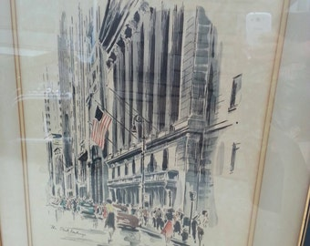 The Stock Exchange by John Haymson Signed