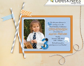 Printable Upshernish Invitation 3rd Birthday Jewish First Hair Cut