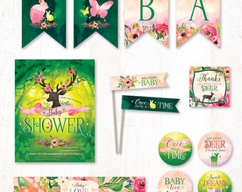 Fairytale Forest Baby Shower - Instant Download PRINTABLE Party Kit