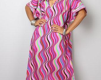 Pink Dress / Maxi Dress / Caftan Dress : Bohemian Kaftan Collection no. 3