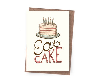 SALE Eat Cake Birthday Card