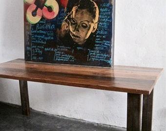 Industrial Dining Table. Reclaimed wood & steel  Made in Los Angeles.