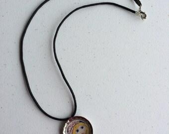 Strength Resin Bottle Cap Necklace