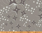 Ninjas Don't Sweat - Grey Stars by Lily Gonzales-Creed from Windham Fabrics