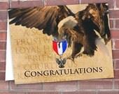 instant download Eagle Scout congratulations card, instant download, editable congratulations card, boy scout postcard, ID131