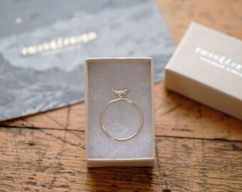 Ring bird silver