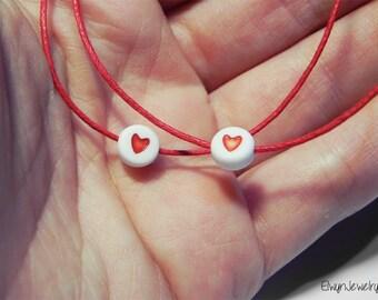 Minimalist Matching Bracelets, Couple Bracelets, Friendship Bracelet, His Hers Bracelets, Red Cord Bracelet, Valentine's Day Gift Bracelets