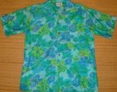 Mens Vintage 60's Casual Ceire Blue Hawaii Hawaiian Aloha Shirt - L -  The Hana Shirt Co