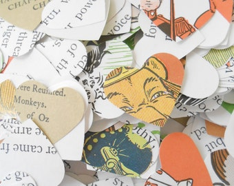 1000 Wizard Of OZ Book Heart Confetti, 1 Inch. Wedding, Party Decoration, Table, Aisle. Custom Orders Welcome.