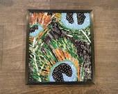 Peacock Art, Peacock Feathers, Soda Can Mosaic, Aluminum Can Mosaic, Pop Can Art, Recycled Art
