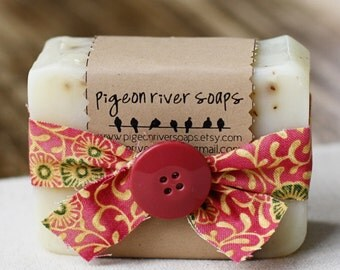 Rosie - Rose Scent -  Cold Process Soap Bar - Handmade Vegan Cold Process Soap - Soap Bar