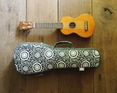 soprano ukulele case - Black and White Ukulele Bag (Ready to ship)