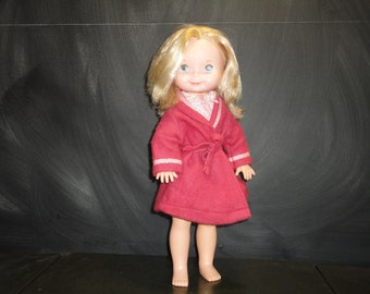 Vintage Retro 1977 Fisher Price 210 My Friend Mandy Doll Bedtime Outfit 232 Pyjamas Housecoat